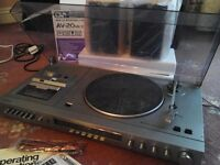 PANASONIC STEREO SYSTEM/RECORD DECK PLAYER/CASSETTE/TUNER AMP/SPEAKERS++EXCELLENT CONDITION