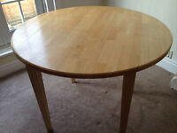 Marks and Spencer Rubberwood Circular Table