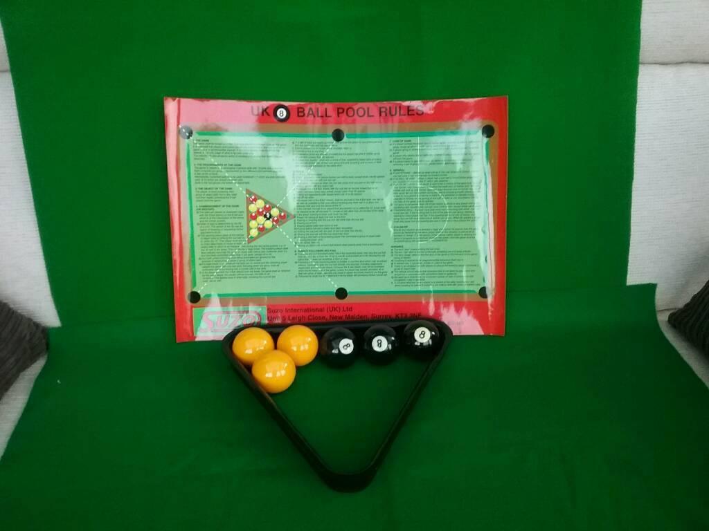 "Pool Balls 2"" - Rules Sheet Laminated-Triangle"
