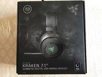 Razer Kraken 7.1 V2 Chroma wired PC headset, opened but not used, in original packaging