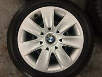 BMW winter Tyres 205 55 16 with wheels