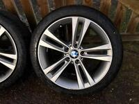 """18"""" BMW 4 Series alloy wheels with continental tyres"""