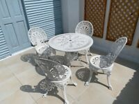 Garden dining table and 4 chairs