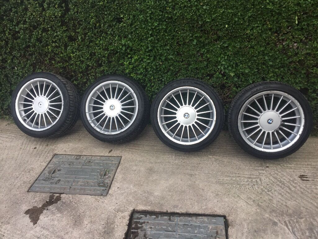 BMW Alpina Style Alloy Wheels Inch Near New Tyres X In - Bmw alpina rims for sale
