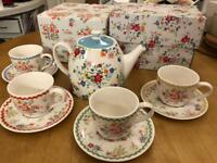 Cath Kidston Clifton Rose Teapot and Cup & Saucer Set~ in original boxes