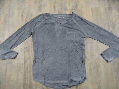 81 HOURS cooles leichtes Langarmshirt grau Cotton Blend Gr. L? TOP BI1217 - Blend Langarm Top