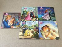 Disney Princess Book Set - Aurora Ariel Snow White Rapunzel & Belle