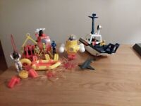 Vintage Fisher Price Coastal diving& rescue toys