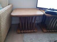 Oak wood side table for sale