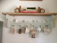 Shabby Chic Rustic Solid Wood Shelf