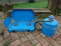 Camping stove/hob and 2.75kg gas bottle