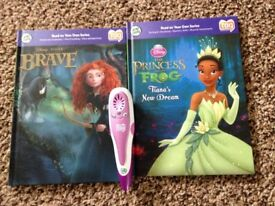 Leap Frog Tag Reading System (purple) with 2 books £10