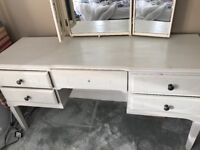 Dressing table chalk painted with stool