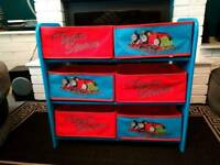 Thomas the tank engine toy storage or shoe rack