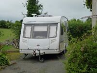 5 Berth caravan Sterling Sapphire,all usual mod cons,included in sale are full and porch awnings.