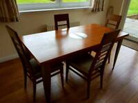 Dining Room Table & 4 Chair & Side / Coffee Table Set