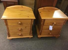 Pair of pine bedside chests * free furniture delivery*