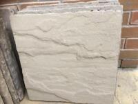 19 x buff paving slabs