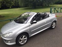 Peugeot 206 CC 1.6 16v Allure Convertible. Low mileage only 2 previous owners