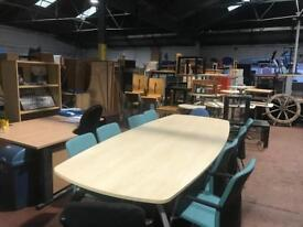 10 Seater Conference Table with Chairs Package