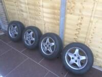 Almost new continental tyres 185/60/r14.including allow wheels