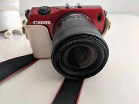 Canon EOS M (red) 18MP excellent condition