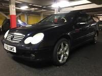 2001 Mercedes c180 coupe blue petrol manual 3dr kompressor