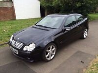 Mercedes-Benz C Class 1.8 C180 Kompressor Sport 2dr 6 MONTHS FREE WARRANTY, LEATHER SEATS