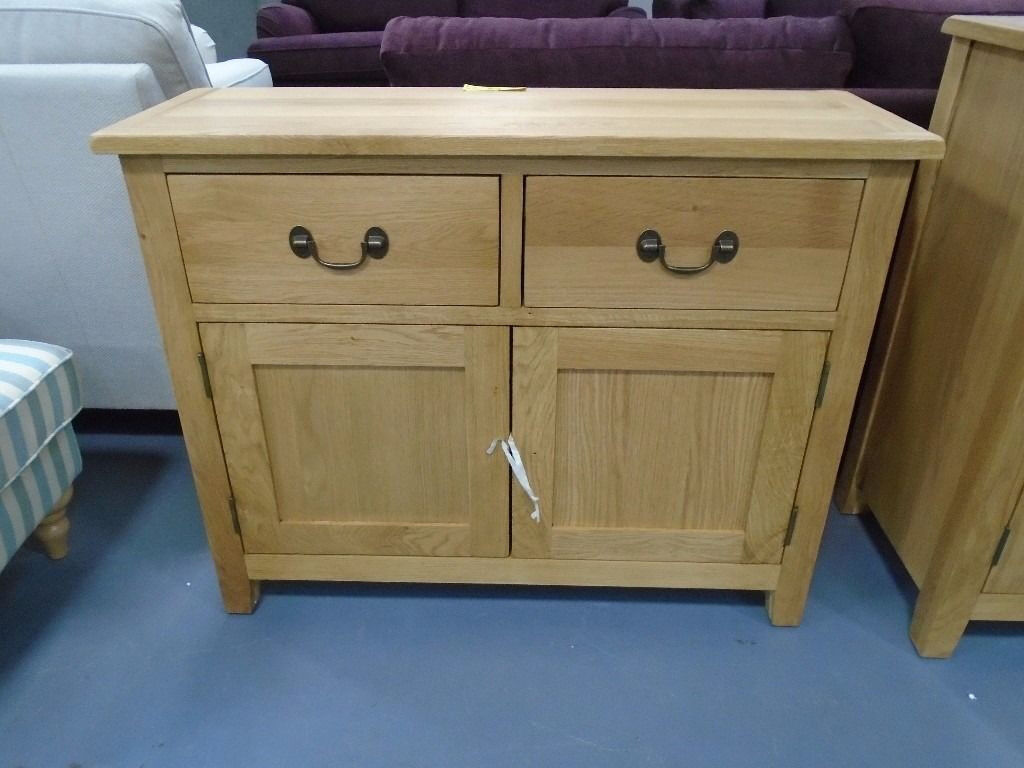 Brand new 2 door 2 drawer oak sideboard already built and for Dining chairs t k maxx