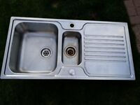 Stainless steel 1.5 basin Kitchen Sink