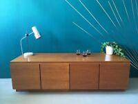 Teak Sideboard Mid Century Vintage Media Cabinet