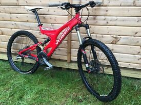 Specialized Enduro FSR Comp (2002, Medium, Red) Full Suspension Mountain Bike with Upgrades