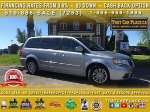 2015 Chrysler Town & Country TOURING-$89/Wk-Htd Lthr Seats-Stow'