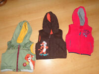 3 x Baby Disney Jackets/gillets 0-3 years