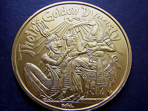 "1997 Thoth 50th Anniversary 2"" Gold Aluminum Mardi Gras Doubloon"