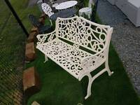 Heavy cast iron garden benches and furniture