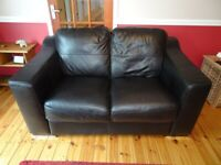 Sofa. Leather 2 seater in very good condition
