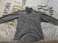 G Star Raw Size Large Grey & White Stripped Long Sleeved Shirt