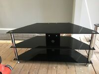 Glass TV stand and side table