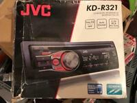 JVC KD R321 Steros with front aux port