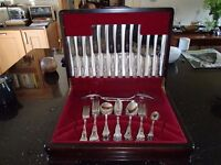 "Canteen of silver plated cutlery ""Kings pattern"" manufactured in Sheffield by Butlers"