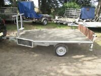 2010 GALVANISED 9-0 X 5-6 (BRAKED) FLATBED TRAILER..........