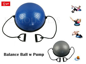 New BOSU GYM Balance Ball Fitness exercise sport with resistance strap pump