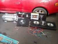 BIG JBL SOUND SYSTEM AMPS SUBS SPEAKERS
