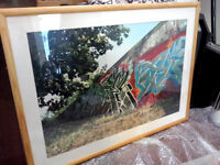 "ART ! Original one off framed colour Photograph - Arnhem Graffiti ""Wall of Fame"" Picture signed"