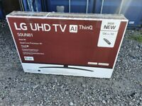 BRAND NEW BOXED LG 50 INCH 50UN8100 SMART 4K UHD HDR LED TV WITH WIFI, APPS, FREEVIEW & FREESAT HD
