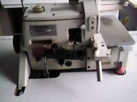 INDUSTRAIL OVERLOCKER SEWING MACHINE WITH MOTOR & TABLE