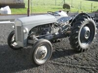 A 1955 FERGUSON TEF 20 Diesel Tractor, + MF 35, 3 CYL Perkin's, recent refurb, BREAKING FOR PARTS