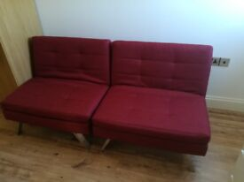 Transformable sofa bed used Twice