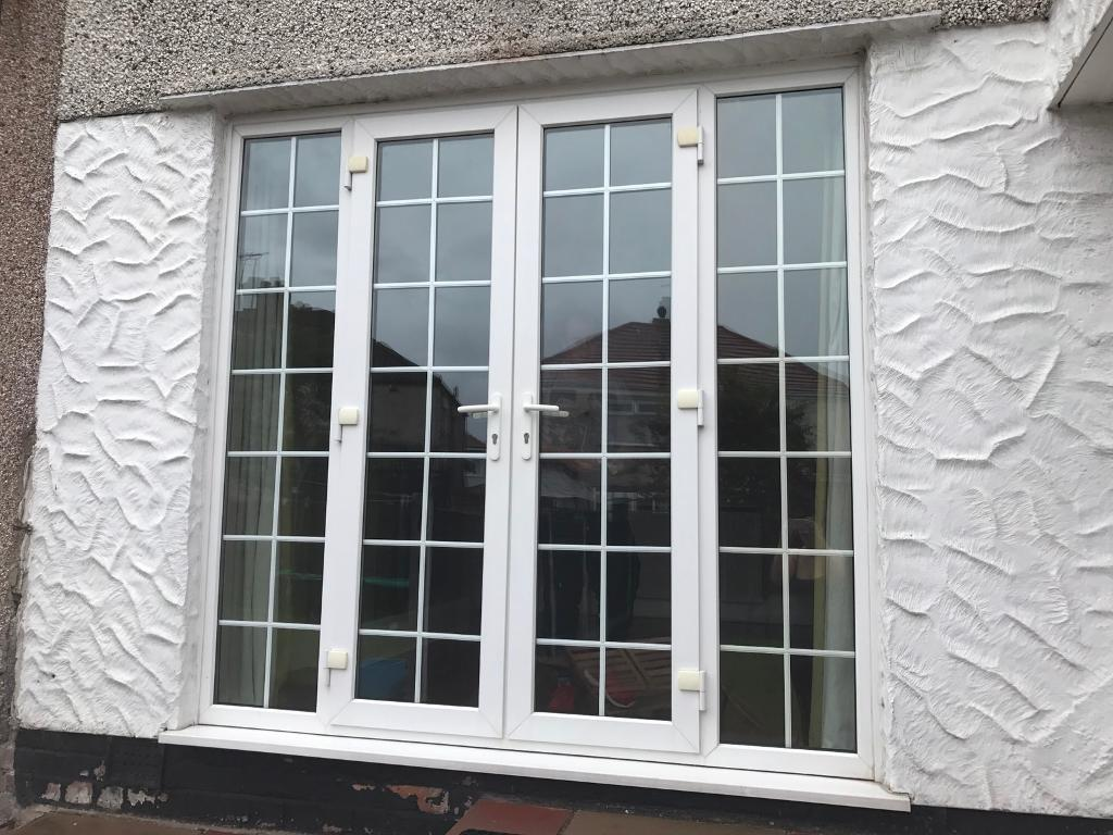 French patio doors white uvpc double glazed